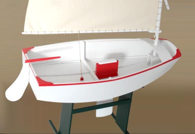 Optimist Dinghy 39cm 1 6 Model Ship Kits Ship Modelling